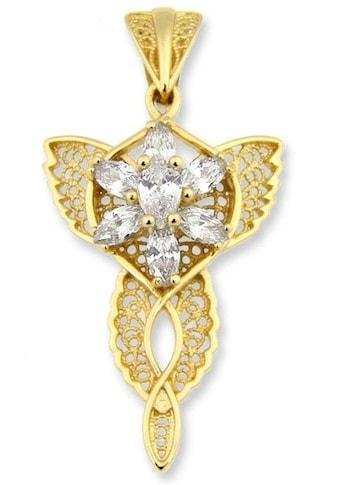 Der Herr der Ringe Kettenanhänger »Arwens Abendstern Filigran klein - gelbgoldfarben,... kaufen