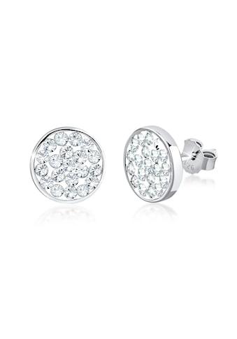 Nenalina Paar Ohrstecker »Ohrstecker Kreis Kristalle 925 Silber« kaufen