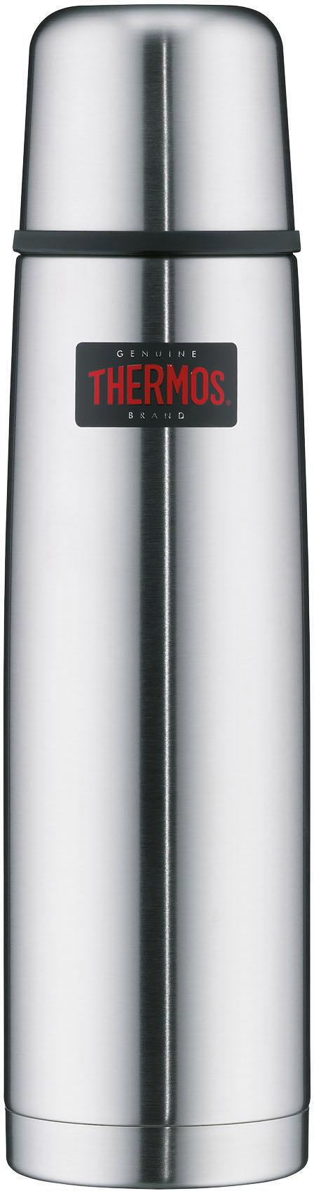 THERMOS Isolierkanne Light & Compact, 1 l, (1), aus bruchfestem Edelstahl silberfarben Kannen Geschirr, Porzellan Tischaccessoires Haushaltswaren