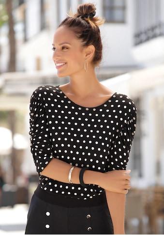 LASCANA Rundhalsshirt, mit Puffärmeln kaufen