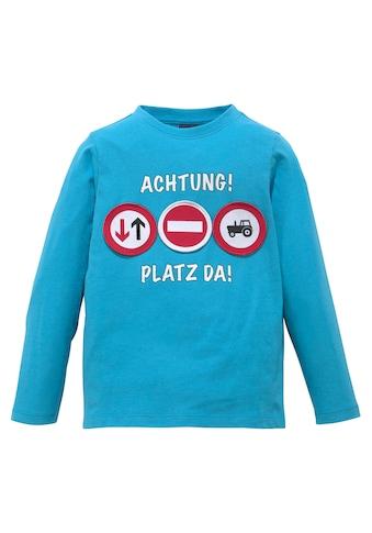 Arizona Langarmshirt »ACHTUNG! PLATZ DA!« kaufen