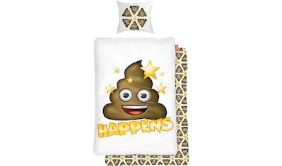 Kinderbettwäsche »Shit Happens«, mit Emoji kaufen