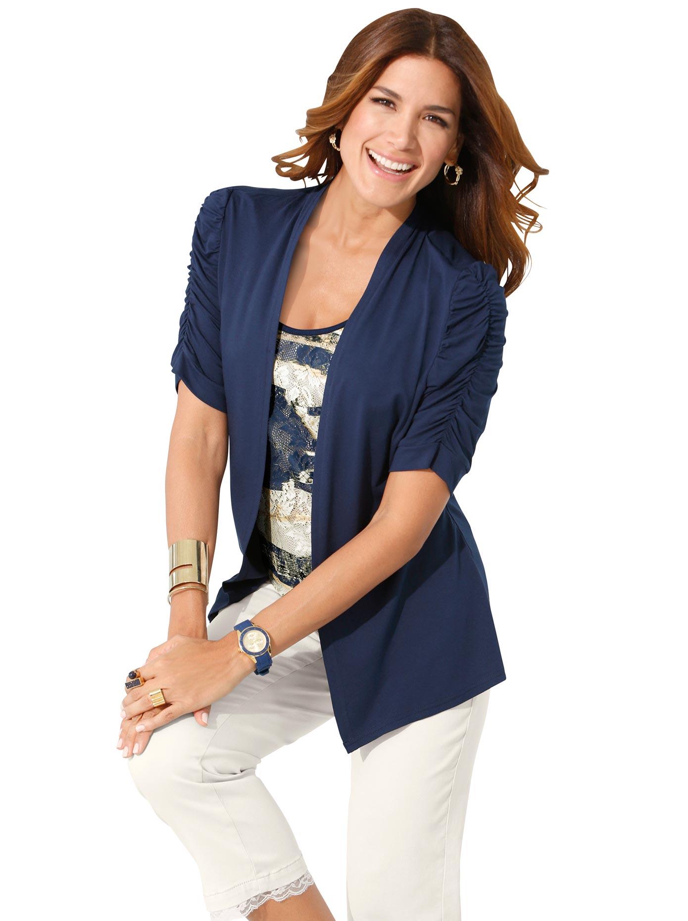 my way FER 2-in-1-Shirt mit gerafften Ärmeln   Bekleidung > Shirts > 2-in-1 Shirts   Lady