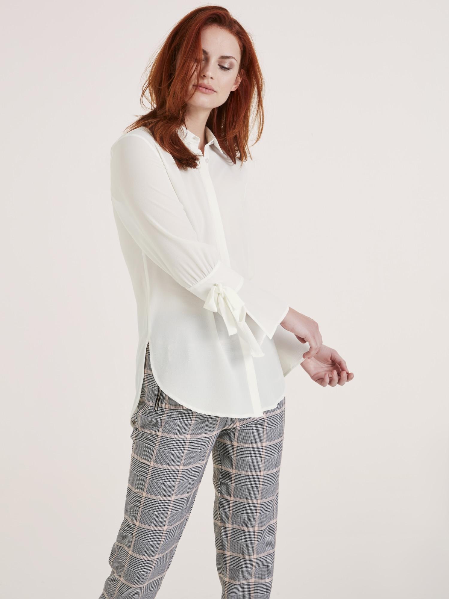 heine CASUAL Bluse mit Hemdblusekragen