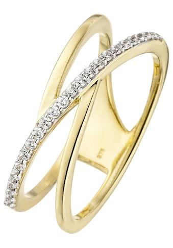 JOBO Goldring, 375 Gold mit 24 Zirkonia kaufen