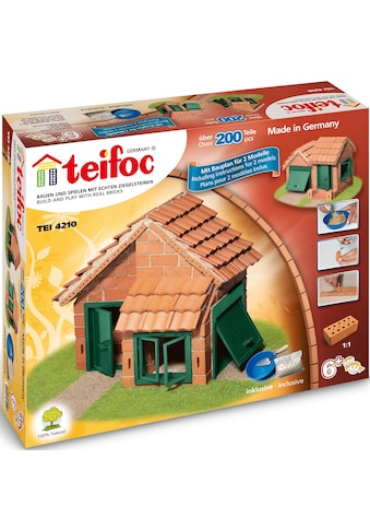 teifoc Konstruktions-Spielset »Haus mit Ziegeldach«, (200 St.), Made in Germany kaufen