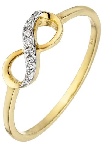 JOBO Goldring »Unendlichkeit«, 375 Gold mit 10 Zirkonia kaufen