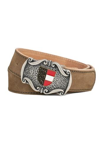 Der Trachtler Ledergürtel »Seppl«, mit trendiger Wappen-Schließe kaufen