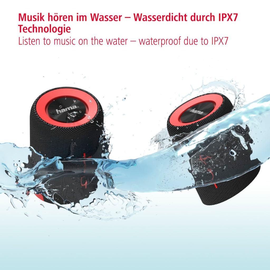 Hama Tragbare Bluetooth Lautsprecher Box, kabellos/wasserdicht