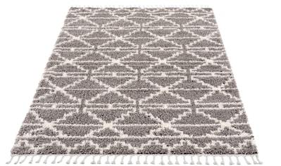 Carpet City Hochflor-Teppich »Pulpy 530«, rechteckig, 30 mm Höhe, mit Fransen, Wohnzimmer kaufen