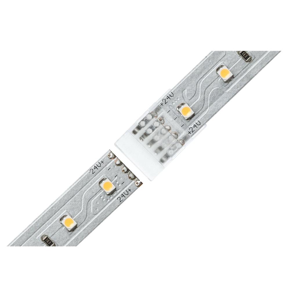 Paulmann LED-Streifen »MaxLED Clip-to-Clip Verbinder 2er-Pack für unbeschichtete Strips für unbeschichtete Strips«