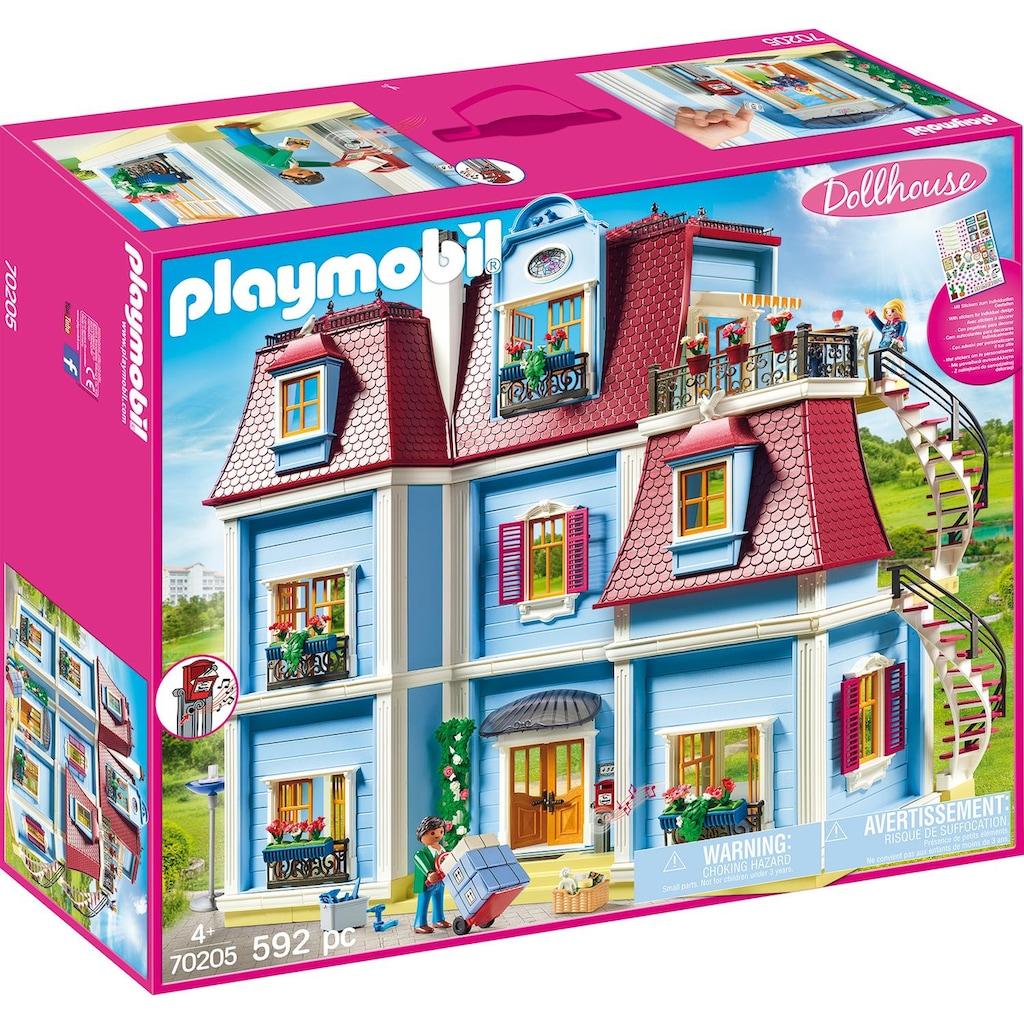 Playmobil® Konstruktions-Spielset »Mein Großes Puppenhaus (70205), Dollhouse«, (592 St.), Made in Germany