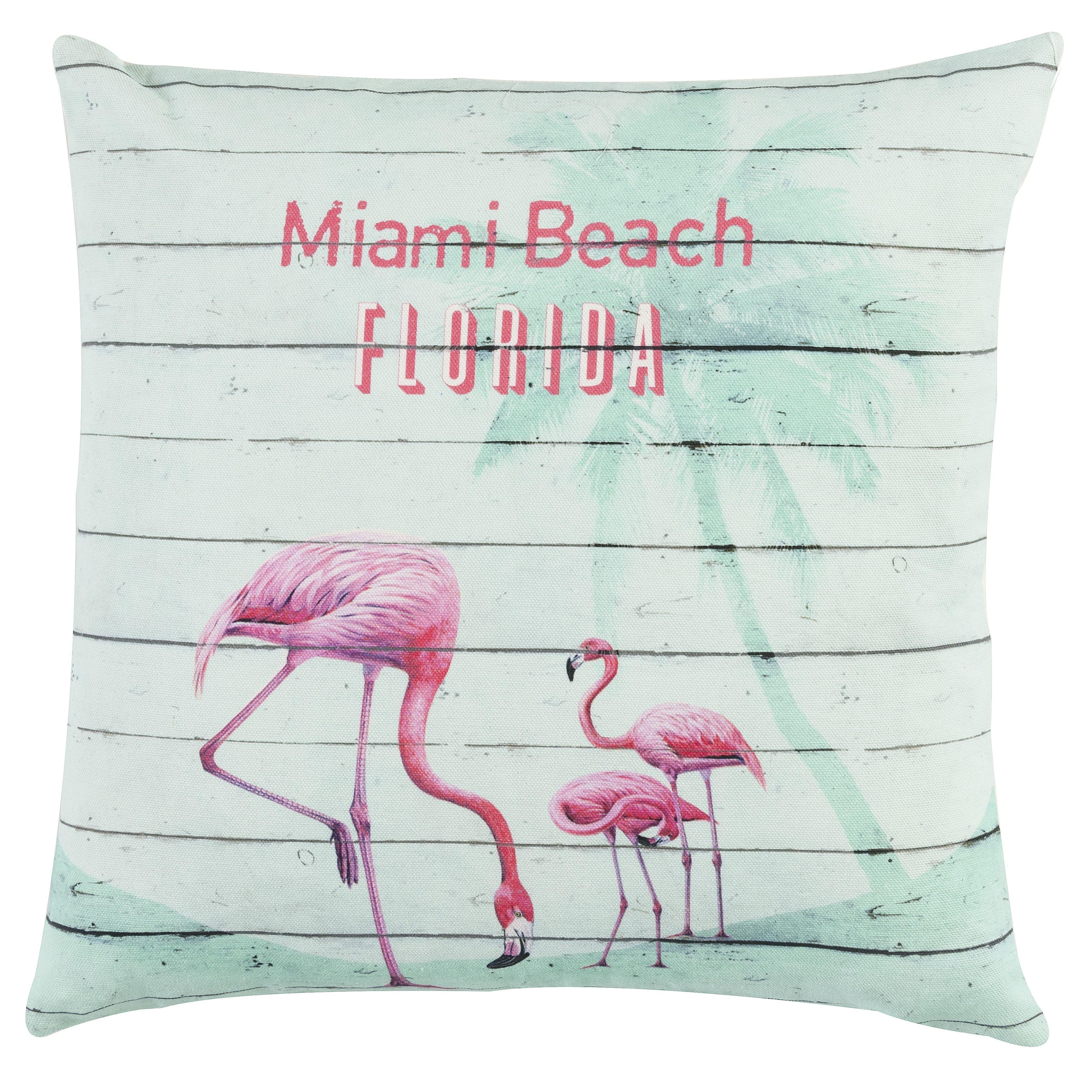 Kissen Flamingos 40 x 40 cm türkis Flamingo Sommer Deko Couch Geschenkidee