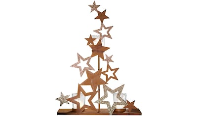 Teelichthalter »Sterne«, in angesagter Rostoptik, Höhe 43,5 cm kaufen