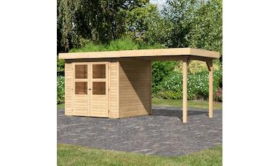 KONIFERA Set: Gartenhaus »Engelsee 2«, BxT: 467x238 cm, inkl. Anbaudach kaufen