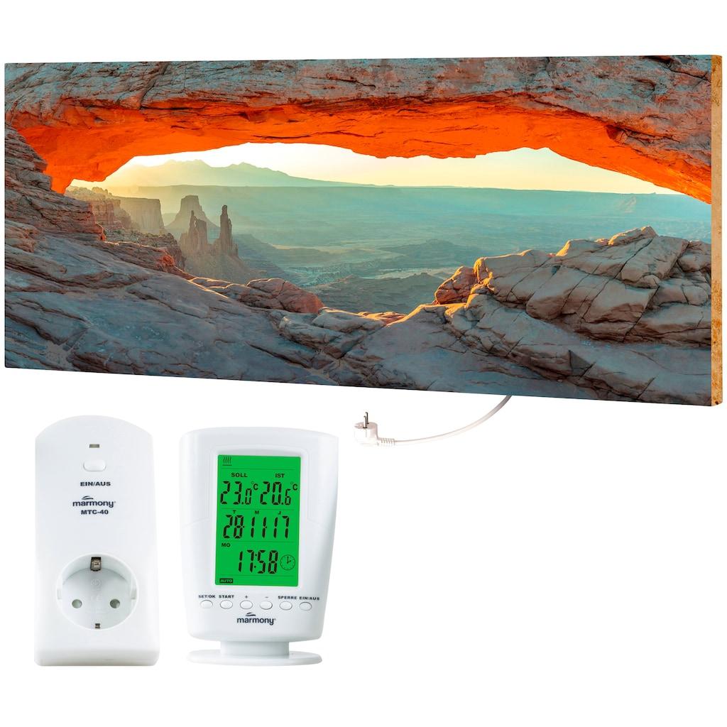 """Marmony Infrarotwandheizung »MOTIV-Heizkörper """"Mountain Views"""", 800 Watt«, trocknet Wände und Mauerwerk, aus deutschem Jura-Naturstein"""