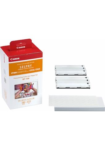 Canon Nachfülltinte »RP-108 und Papier-Set (108 Stck.)«, für Canon SELPHY CP1000,... kaufen