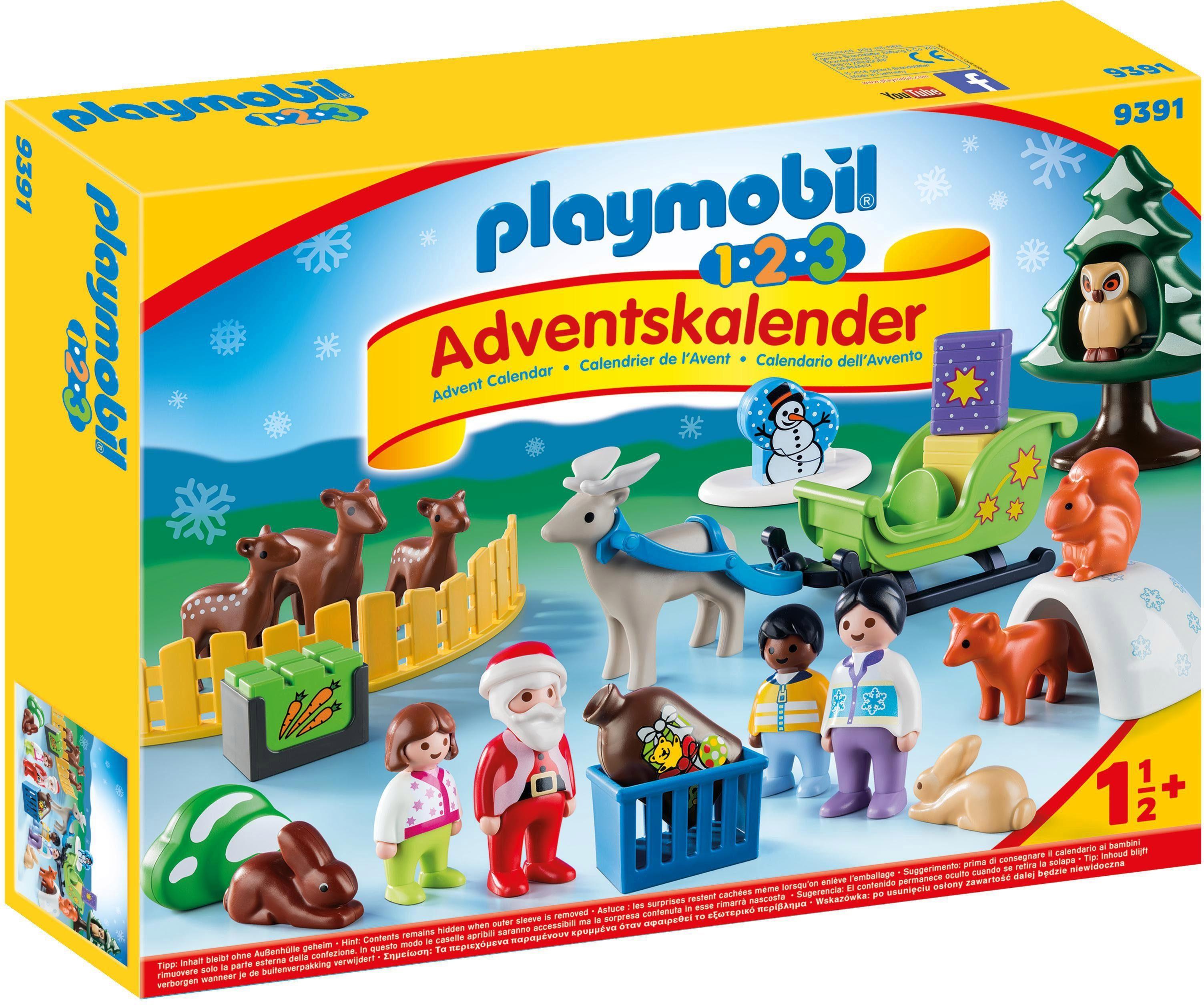 """Playmobil Adventskalender """"123 Adventskalender Waldweihnacht der Tiere (9391)"""" Kindermode/Spielzeug/Adventskalender"""
