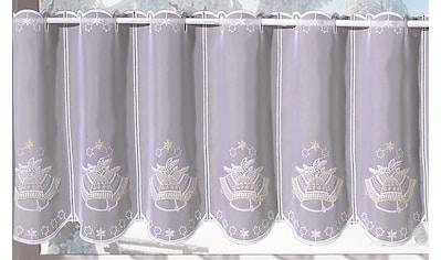 Stickereien Plauen Scheibengardine »Glocke«, veredelt mit echter Plauener Spitze Stickerei kaufen