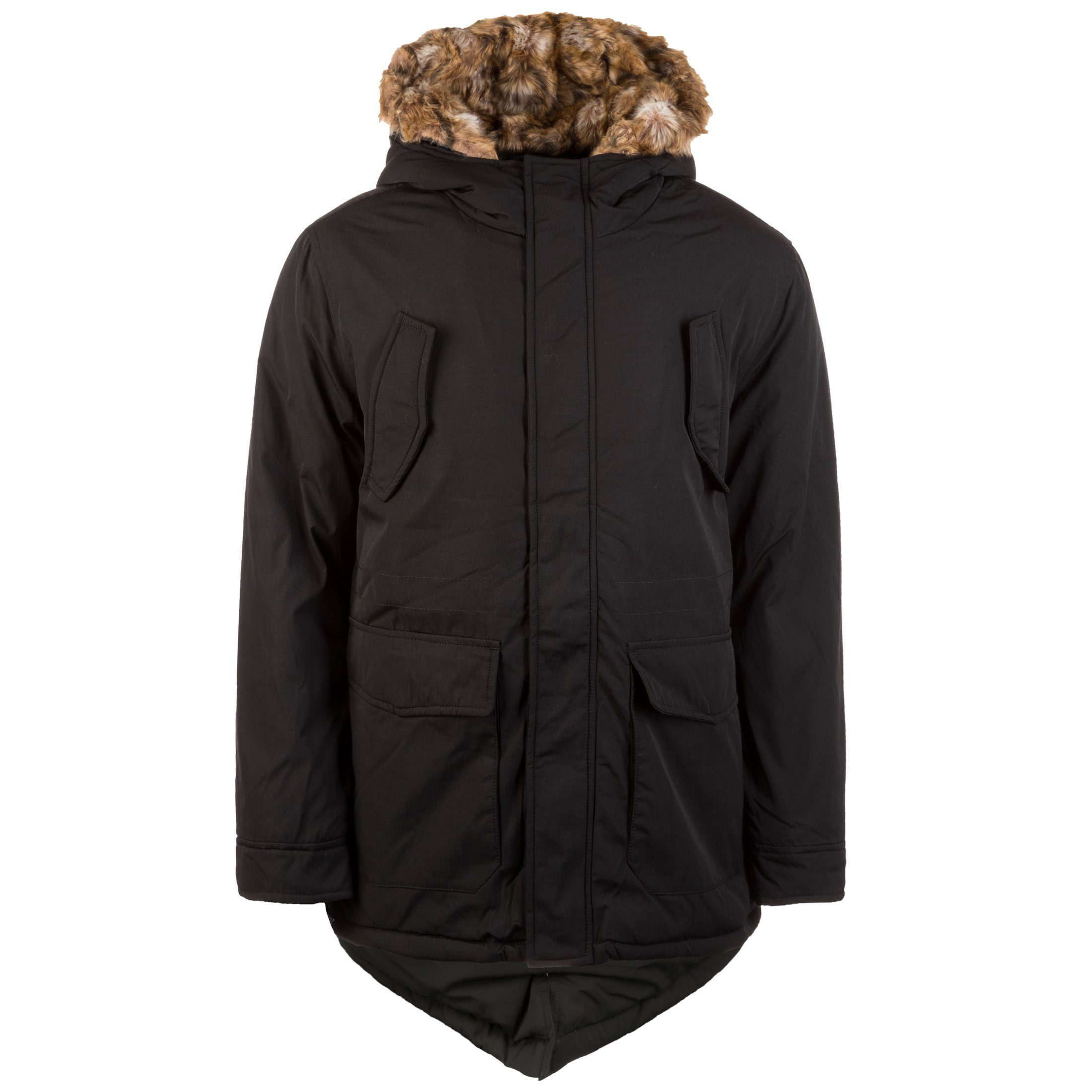 URBAN CLASSICS Winterjacke Hooded Faux Fur Herren | Bekleidung > Jacken > Winterjacken | Urban Classics