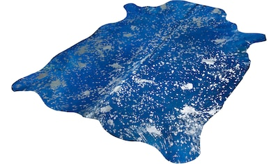 Trendline Fellteppich »Blue Sky«, fellförmig, 3 mm Höhe, echtes gefärbtes Rinderfell,... kaufen