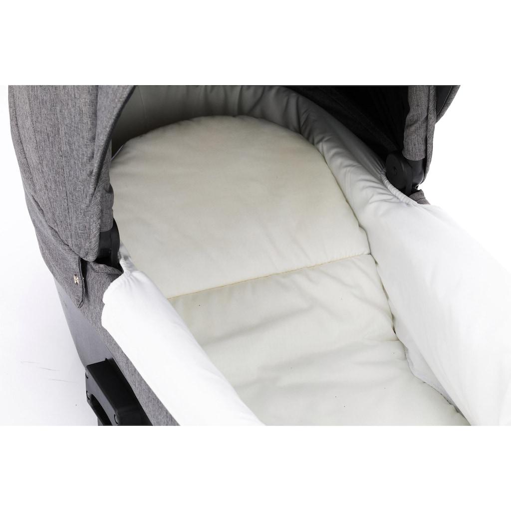 Fillikid Kombi-Kinderwagen »Tiger hellgrau melange«, 15 kg, ; Kinderwagen