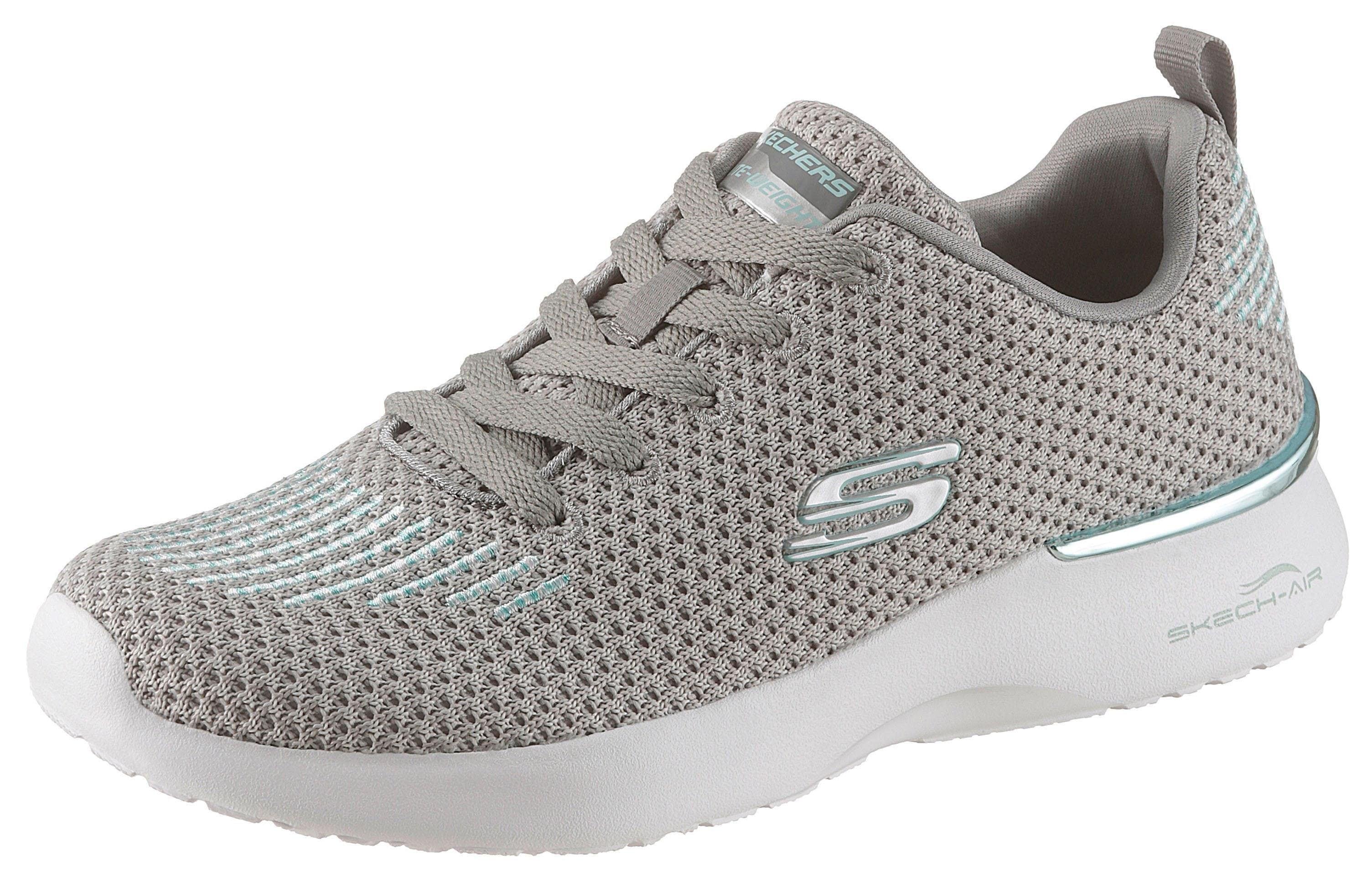 Skechers Sneaker Skech-Air Dynamight grau Damen Schnürhalbschuh Halbschuhe