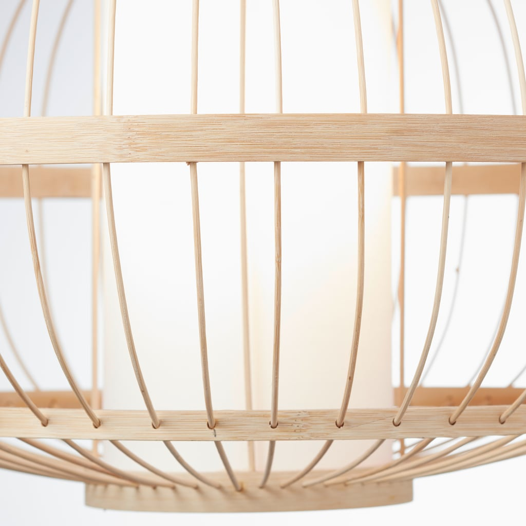 LeGer Home by Lena Gercke Pendelleuchte »Almina«, E27, Hängelampe aus Bambus und Textil, Ø 48cm