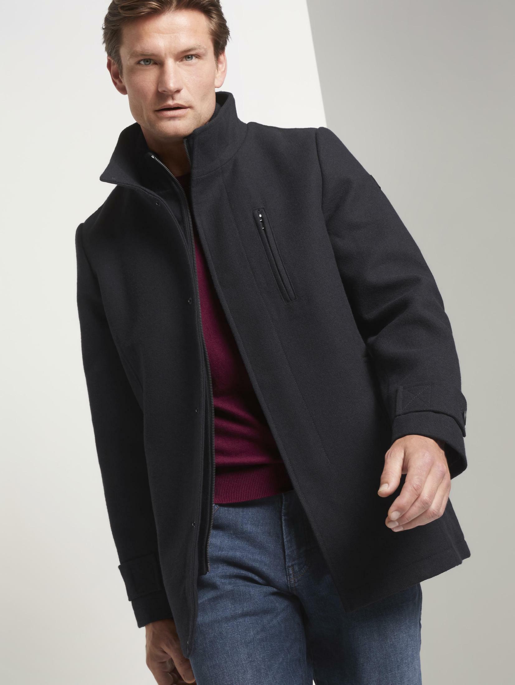 tom tailor -  Wintermantel Wollmantel mit Strickkragen