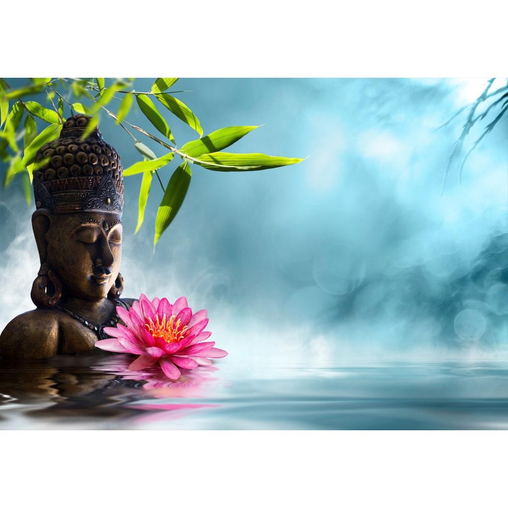 Papermoon Fototapete »Buddha in Meditation.«, Vliestapete, hochwertiger Digitaldruck