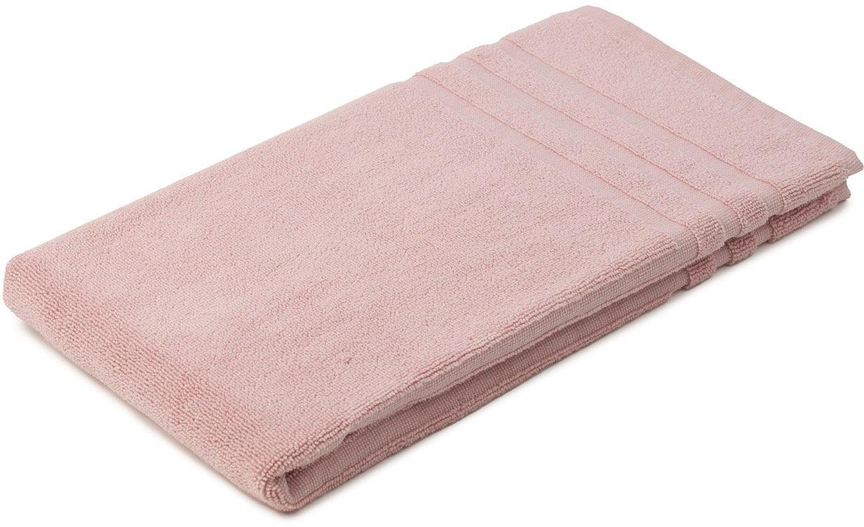 Gözze Badematte Monaco, Höhe 5 mm, beidseitig nutzbar, verwendbar, 0,8 kg/m² Gesamtgewicht rosa Einfarbige Badematten