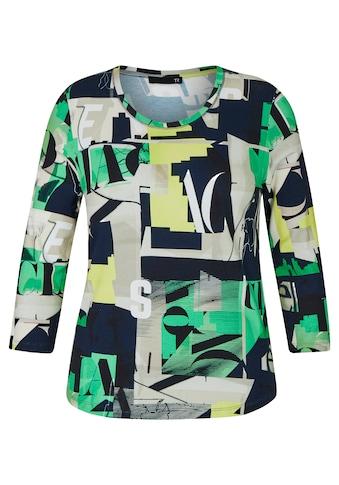 Thomas Rabe Shirt mit abstraktem Muster und 3/4-Ärmeln kaufen