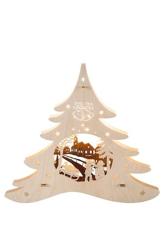 Weigla Beleuchtetes Fensterbild »Tannenbaum - Winterspaß« kaufen