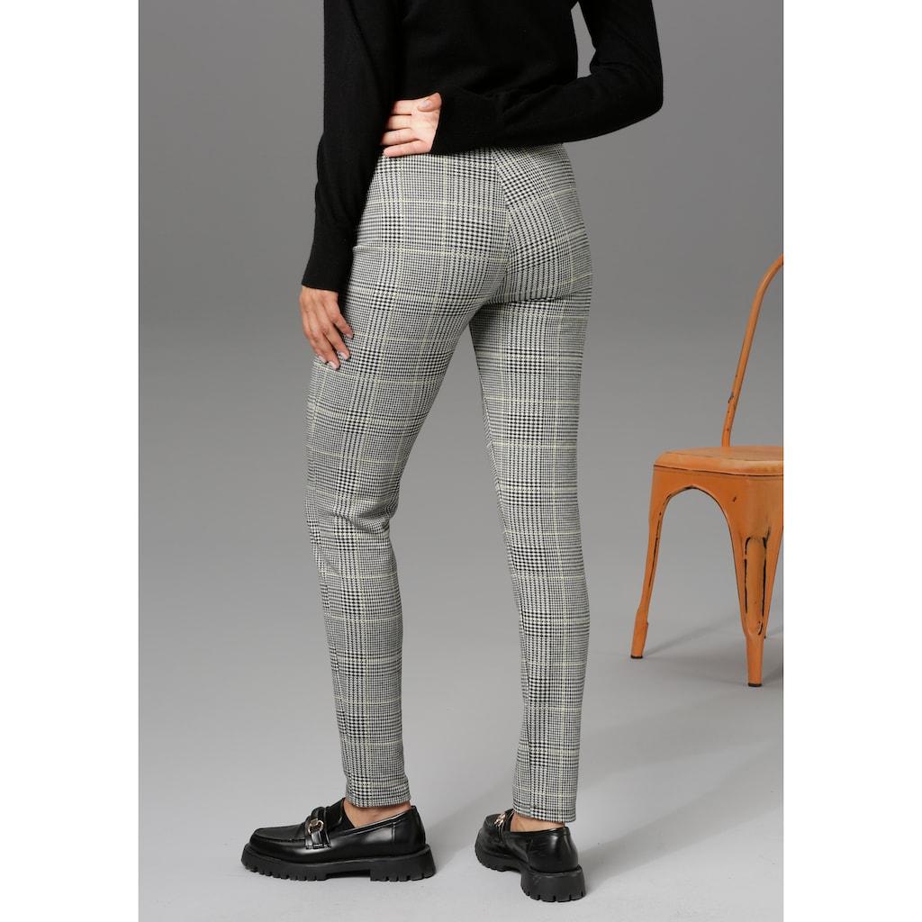 Aniston CASUAL Leggings, im Karo-Dessin - NEUE KOLLEKTION