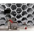living walls Fototapete »Designwalls Honeycomb Structure 1«