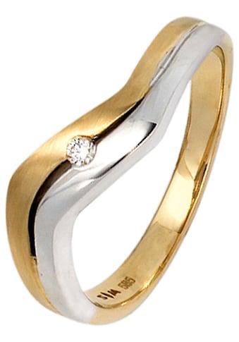 JOBO Diamantring, 585 Gold bicolor mit Diamant kaufen