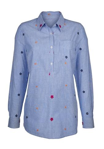 Dress In Bluse mit Streifen und Stickerei kaufen