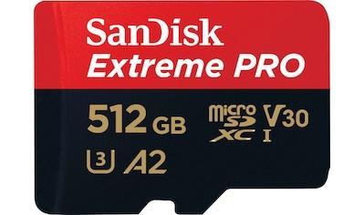 Sandisk Speicherkarte »Extreme Pro microSDXC 512GB + SD Adapter + Rescue Pro Deluxe«,... kaufen