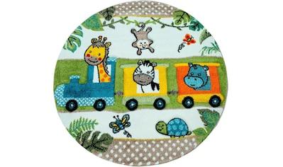Paco Home Kinderteppich »Diamond 635«, rund, 18 mm Höhe, 3D-Kinder Design, Zootiere... kaufen
