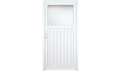 KM MEETH ZAUN GMBH Nebeneingangstür »K605P«, BxH: 108x208 cm cm, weiß, links kaufen