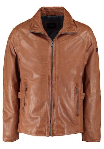 DNR Jackets Herren Lederjacke mit seitlichen Riegeln kaufen