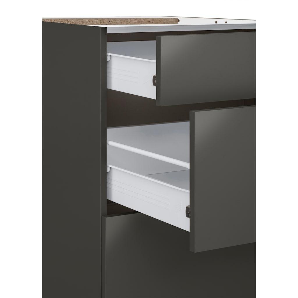 wiho Küchen Unterschrank »Kansas«, 90 cm breit, mit 2 großen Auszügen ohne Arbeitsplatte