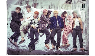 Reinders! Poster »Poster BTS Bett - Band - Bangtan Boys«, Orchester & Bands, (1 St.) kaufen