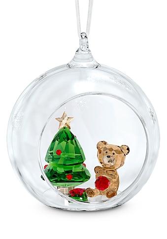 Swarovski Dekofigur »Weihnachtskugel, Weihnachtsszene, 5533942«, Swarovski® Kristall mit schwarzem Emaille kaufen