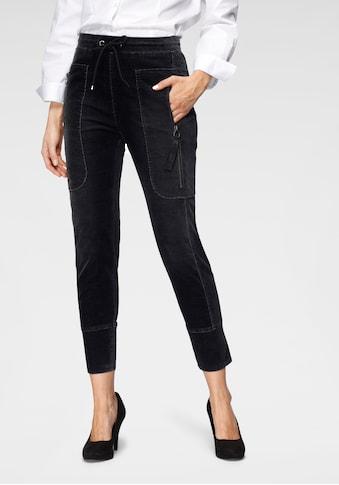 MAC Jogger Pants »Future-Velvet«, Große Reißverschluss-Taschen und formgebende Einsätze kaufen