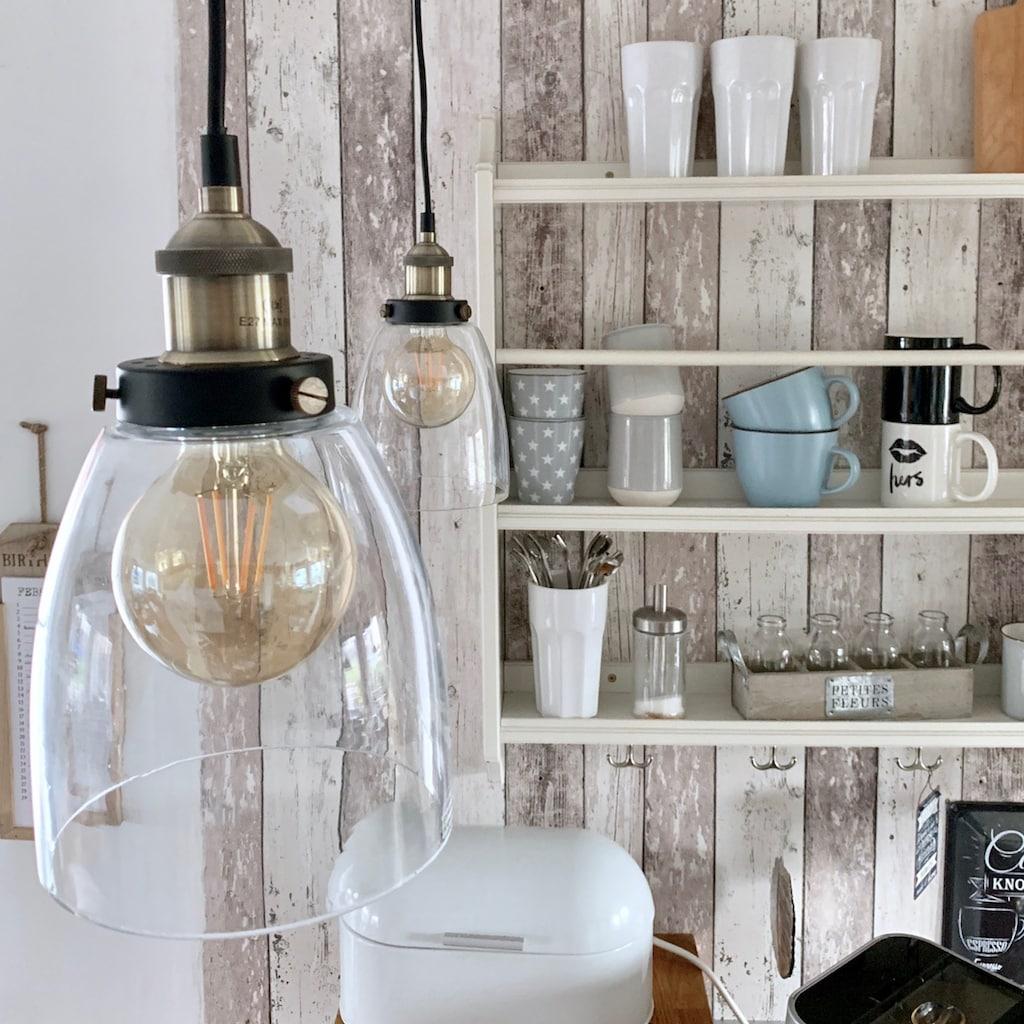 B.K.Licht Pendelleuchte »Sigma«, E27, Deckenlampe Retro Pendel-Lampe Vintage Hängeleuchte Loft Edison E27