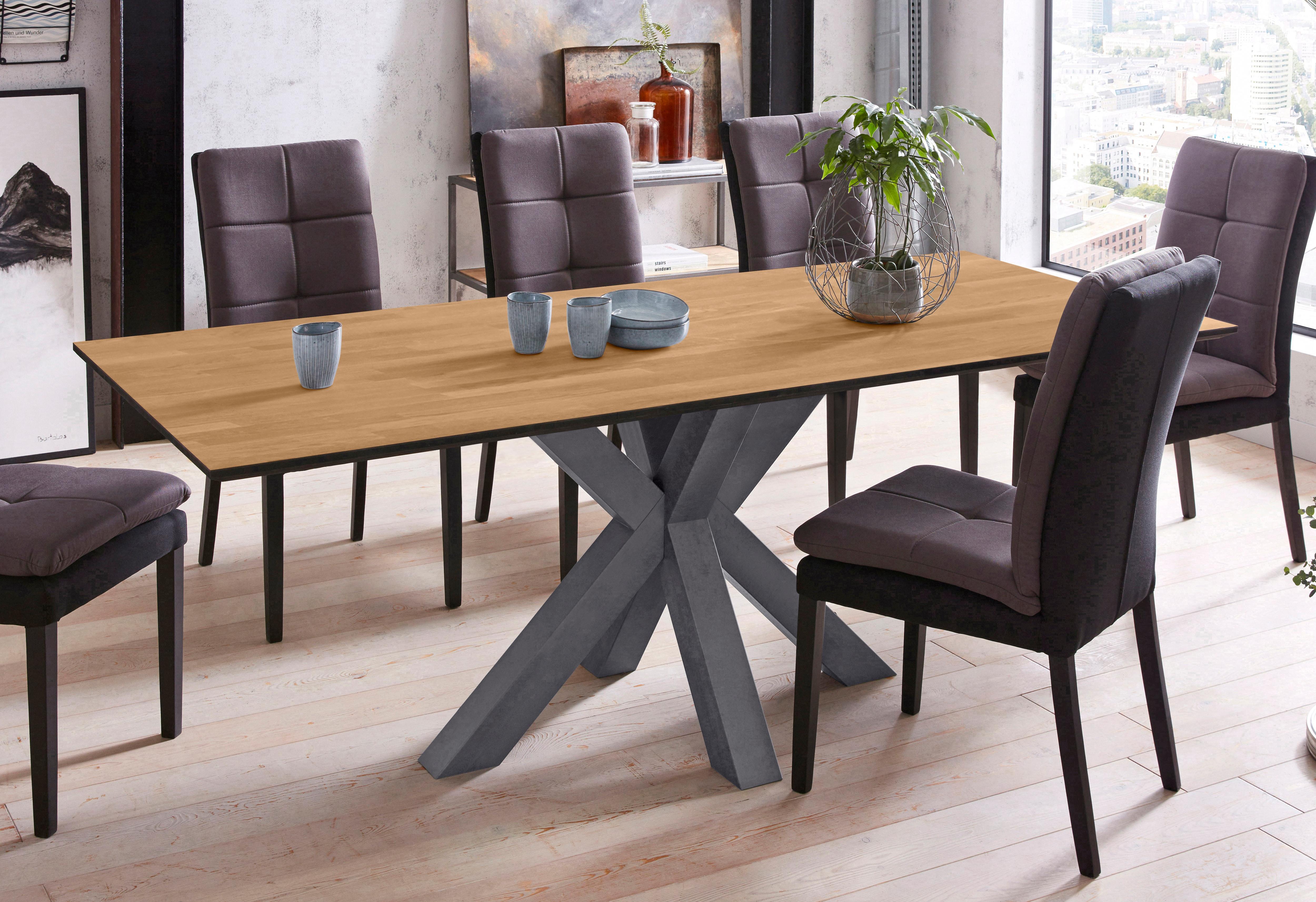 Mäusbacher Esstisch, Breite 180 cm schwarz Esstisch Esstische rechteckig Tische