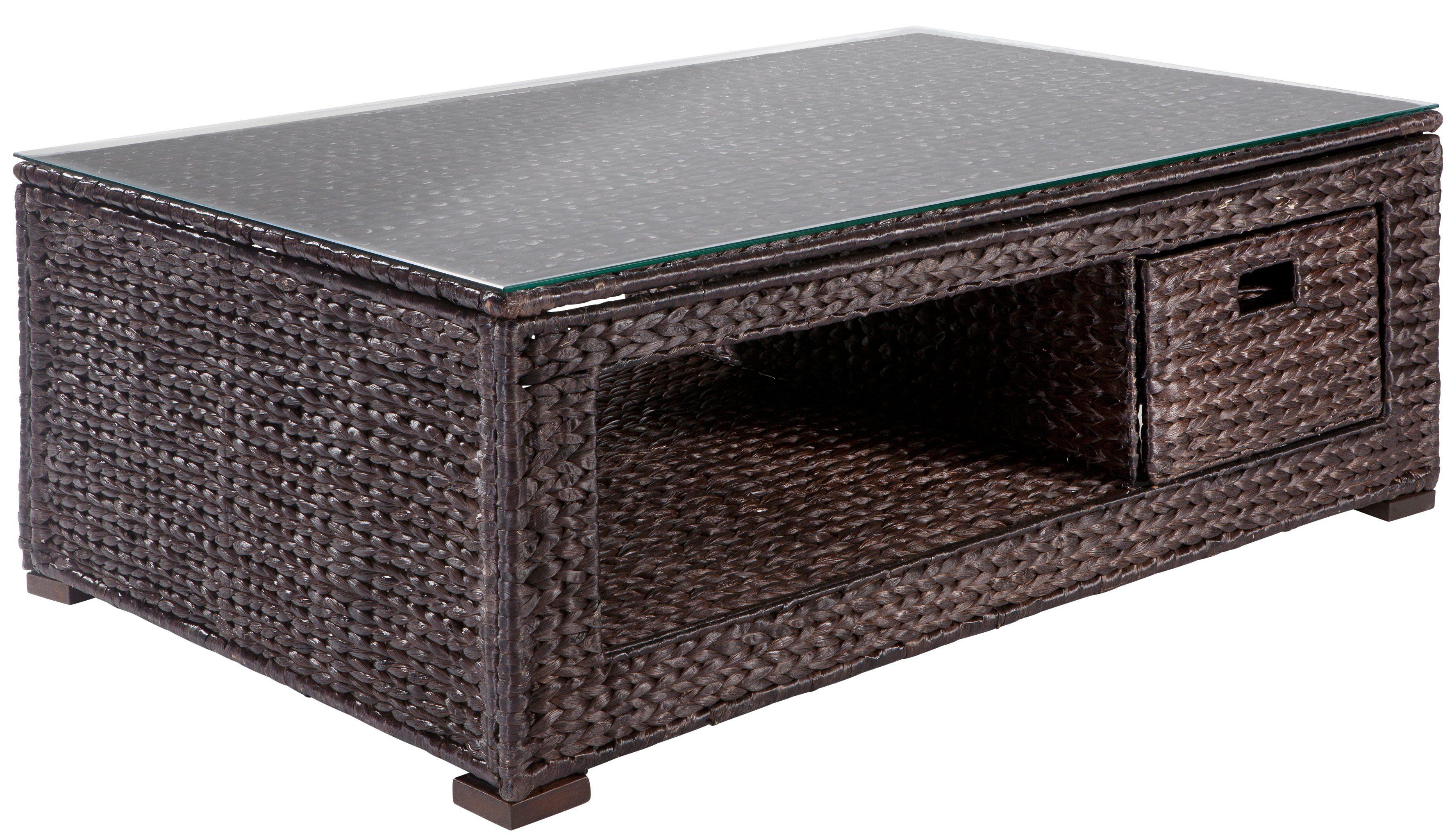 home affaire couchtisch sch nerempfang aus wasserhyazinthengeflecht ab 169 99 eur. Black Bedroom Furniture Sets. Home Design Ideas