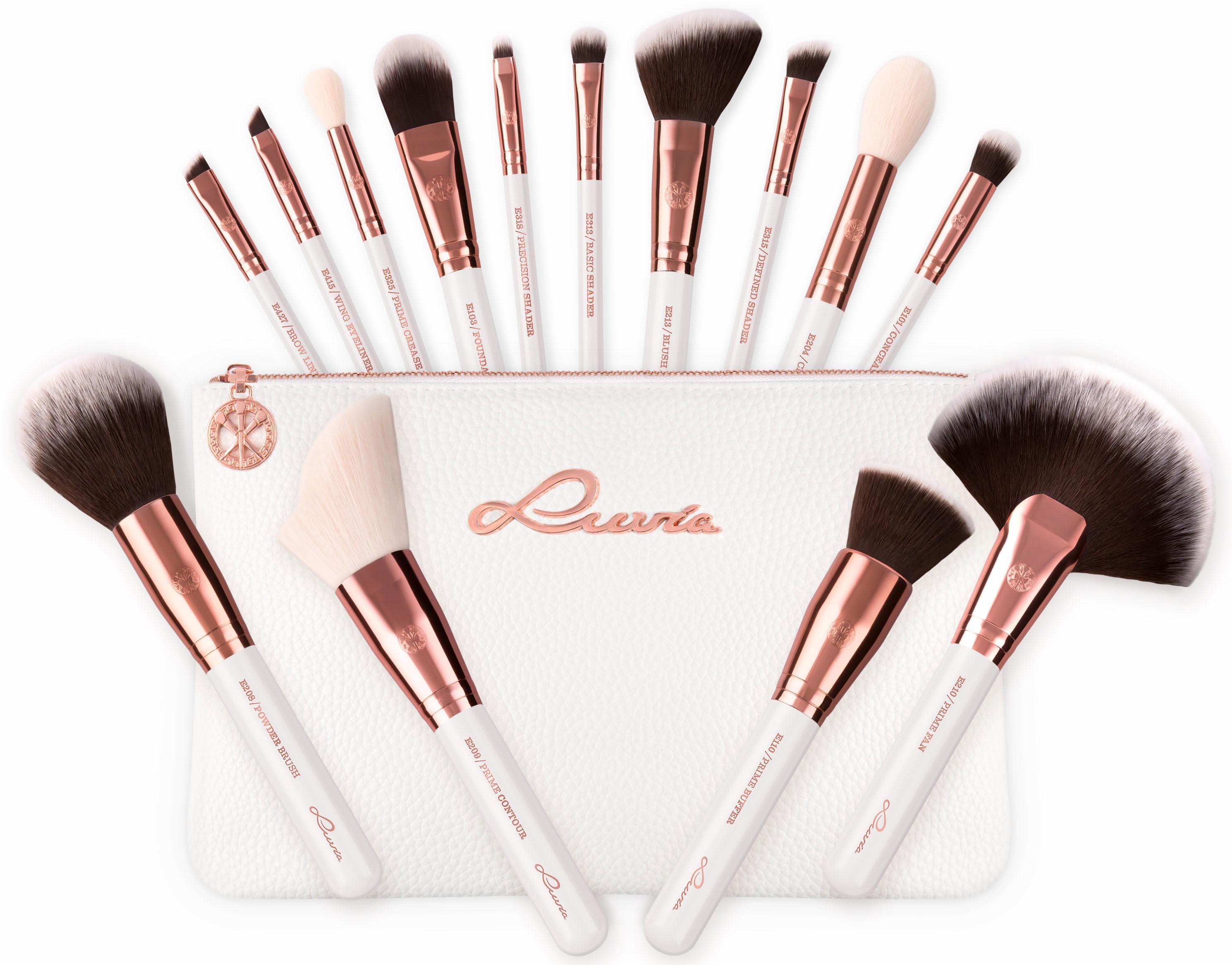 Luvia Cosmetics,  Essential Brushes - Feather White , Veganes Make-Up Pinselset mit Pinsel Preisvergleich