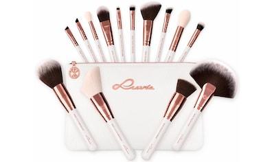 "Luvia Cosmetics Kosmetikpinsel - Set ""Essential Brushes  -  Feather White"", 15 - tlg., inkl. Pinseltasche kaufen"